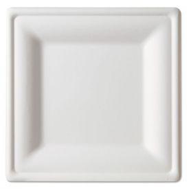 Eco-Products® Renewable & Compostable Square Sugarcane Plates - Large