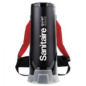 Sanitaire® TRANSPORT QuietClean HEPA Backpack Vacuum, 10qt, Black