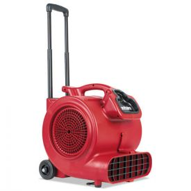 Sanitaire® DRY TIME Air Mover with Wheels and Handle, 1281cfm, Red, 20ft Cord