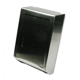 Ex-Cell C-Fold or Multifold Towel Dispenser, 11 1/4 x 4 x 15 1/2, Stainless Steel