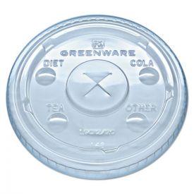 Fabri-Kal® Greenware Cold Drink Lids, Fits 9, 12, 20 oz Cups, Clear