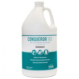 Fresh Products Conqueror 103 Odor Counteractant Concentrate, Mango, 4-1gal.
