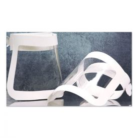 SCT® Face Shield, 20.5 to 26.13 x 10.69, One Size Fits All, White/Clear