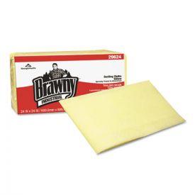 Georgia Pacific® Professional Brawny Industrial Dusting Cloths, Quarterfold, 24x24, Yellow