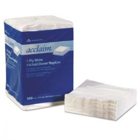 Georgia Pacific® Professional Acclaim® 1/4 Fold Paper Dinner Napkins, White, 1-Ply, 16