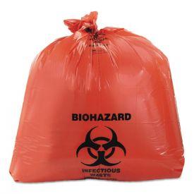Heritage Healthcare Biohazard Printed Can Liners, 45 gal, 3 mil, 40