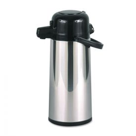 Hormel Commercial Grade 2.2L Airpot, w/Push-Button Pump, Stainless Steel/Black
