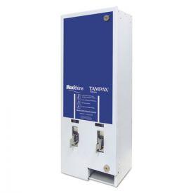 HOSPECO® Maxithins/Tampax Dual Channel Vendor, Metal, 11 1/8 x 7 5/8 x 26 3/8, White/Blue