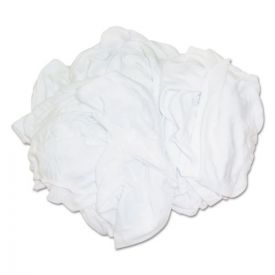 HOSPECO® New Bleached White T-Shirt Rags, 25 Pounds/Bag