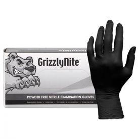 HOSPECO® ProWorks GrizzlyNite Nitrile Gloves, Black, X-Large