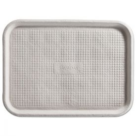 Chinet® Savaday Molded Fiber Flat Food Tray, White, 12x16