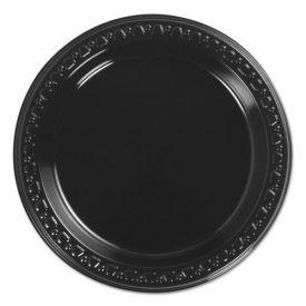 Chinet® Heavyweight Plastic Plates, 6 Inch, Black, Round, 125/BG