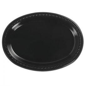Chinet® Heavyweight Plastic Platters, 8 x 11, Black, 125/Bag
