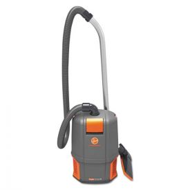 Hoover® Commercial HushTone Backpack Vacuum Cleaner, 11.7 lb., Gray/Orange