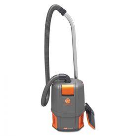 Hoover® Commercial HushTone Backpack Vacuum Cleaner, 11.7 lb., Gray/Orange