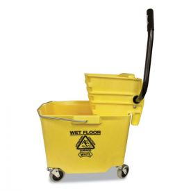 Impact® Side-Press Squeeze Wringer/Plastic Bucket Combo, 12 to 32 oz, Yellow