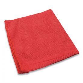 Impact® Lightweight Microfiber Cloths, 16 x 16, Red, 240