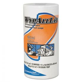 WypAll® L40 Towels, Small Roll, 10 2/5 x 11, White