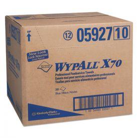 WypAll® X70 Foodservice Towels, 1/4 Fold, 12 1/2 x 23 1/2, Blue
