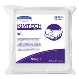 Kimtech™ W5 Critical Task Wipers, Flat Double Bag, Spunlace, 9x9, White