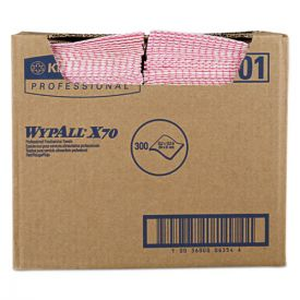 WypAll® X70 Wipers, 12 1/2 x 23 1/2, Red
