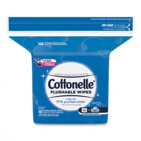 Cottonelle® Fresh Care Flushable Cleansing Cloths, White, 5x7 1/4