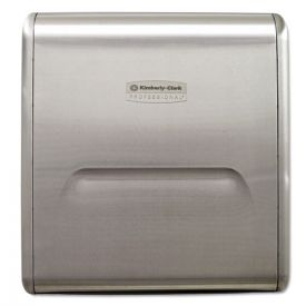 Kimberly-Clark Professional* Mod Stainless Steel Recessed Dispenser Housing, Stainless Steel, 11.13x4x15.37