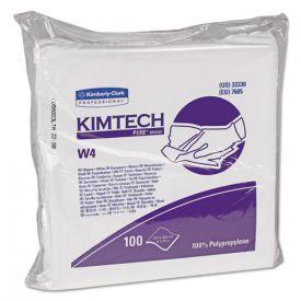 Kimtech™ W4 Critical Task Wipers, Flat Double Bag, 12x12, White