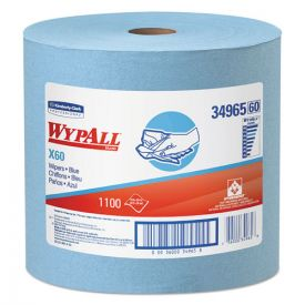 WypAll® X60 Cloths, Jumbo Roll, 12 1/2 x 13 2/5, Blue