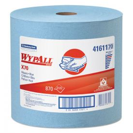 WypAll® X70 Cloths, Jumbo Roll, 12 1/2 x 13 2/5, Blue