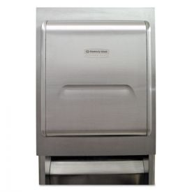 Kimberly-Clark Professional* MOD Recessed Dispenser Housing w/Trim Panel, Stainless Steel, 11.13x4x15.37