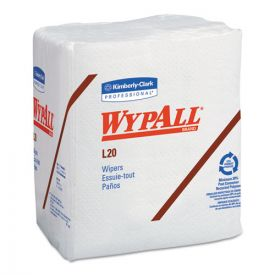 WypAll® L20 Towels, 1/4 Fold, 4-Ply, 12 1/5 x 13, White