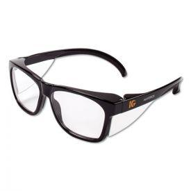 KleenGuard™ Maverick Safety Glasses, Black, Polycarbonate Frame, Clear Lens