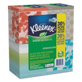 Kleenex® Lotion Facial Tissue, 2-Ply, White