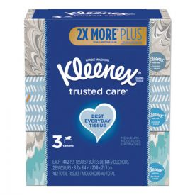 Kleenex®  Trusted Care Facial Tissue, 2-Ply, White