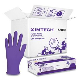 Kimberly-Clark Professional* PURPLE NITRILE Exam Gloves, 242 mm Length, Large, Purplle