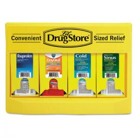 Lil' Drugstore® Cold and Flu Single Dose Dispenser, 170-Pieces, Plastic Case, Yellow/Black