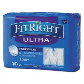 Medline FitRight Ultra Protective Underwear, Medium, 28