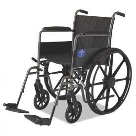 Medline Excel K1 Basic Wheelchair, 18w x 16d, 300 lb Capacity