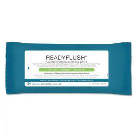 Medline ReadyFlush Biodegradable Flushable Wipes, 8 x 12