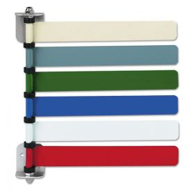 Medline Room ID Flag System, 6 Flags, Primary Colors