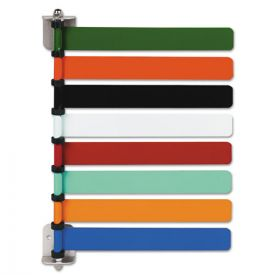 Medline Room ID Flag System, 8 Flags, Primary Colors
