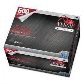 Medline Venom Steel Industrial Nitrile Gloves, Medium, Black, 6 mil