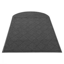 Guardian EcoGuard Diamond Floor Mat, Single Fan, 48 x 96, Charcoal