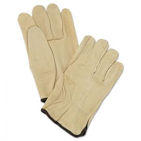 MCR™ Safety Unlined Pigskin Driver Gloves, Cream, Large