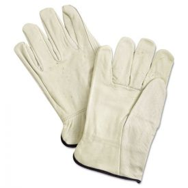 MCR™ Safety Unlined Pigskin Driver Gloves, Cream, X-Large