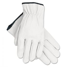 MCR™ Safety Grain Goatskin Driver Gloves, White, Large