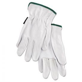 MCR™ Safety Grain Goatskin Driver Gloves, White, Medium