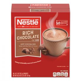 Nestlé® Hot Cocoa Mix, Rich Chocolate, 0.71 oz Packets, 50/Box