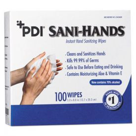 Sani Professional® PDI Sani-Hands Instant Hand Sanitizing Wipes, 8 x 5